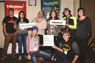 In.Business students gather with their Indigenous business mentor at the November 2015 opening conference held in Membertou, Nova Scotia. (CNW Group/RBC Royal Bank)