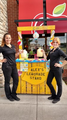 From June 26 through July 30, 2017, more than 1,000 Applebee's® Neighborhood Grill + Bar restaurants - like this one in Rice Lake, Wis. - will team up with Alex's Lemonade Stand Foundation with the goal of raising more than $1 million for childhood cancer research. Since 2005, Applebee's has raised nearly $7 million for the foundation, which has helped fund around 140 thousand hours of research.