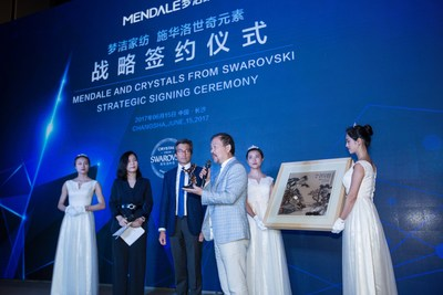 Mendale and Crystals from Swarovski strategic signing ceremony