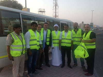 Premier Inn Dubai Ibn Battuta Team getting ready to distribute Iftar Boxes in the spirit of giving during the Holy month. (PRNewsfoto/Premier Inn Ibn Battuta Hotel)