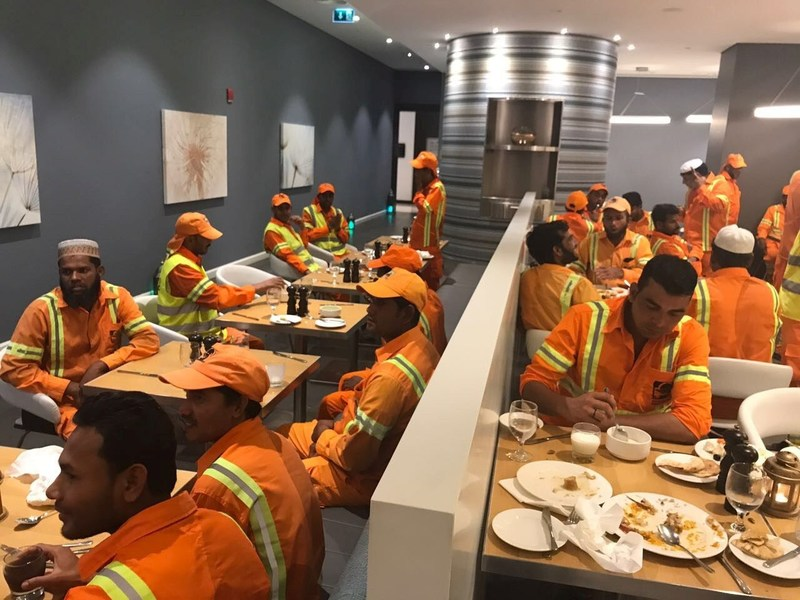Dubai Municipality workers get to together for Iftar at Premier Inn Ibn Battuta Mall. (PRNewsfoto/Premier Inn Ibn Battuta Hotel)
