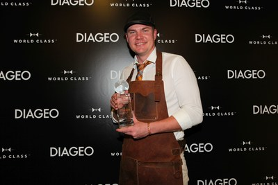 Marc McArthur, 28 of Norwegian Cruise Line has been crowned Diageo Global Travel's best bartender. The next dock for Marc, is the global final of one of the leading and most respected bartender competitions in the world - WORLD CLASS Bartender of the Year in Mexico City on 20th - 24th August 2017. Here he will represent cruise lines and battle it out against 56 of the world's best bartenders for the coveted 'WORLD CLASS Bartender of the Year' title. (PRNewsfoto/Diageo Global Travel')
