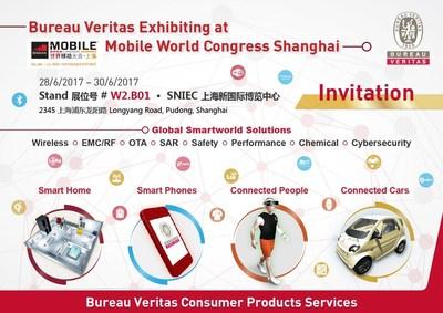 Bureau Veritas invites you to visit us at MWC Shanghai at Stand#W2.B01 in SNIEC on 28-30 June (PRNewsfoto/Bureau Veritas Consumer Products)
