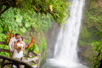 Start your forever near a breathtaking waterfall in Costa Rica. This couple exchanged vows at La Paz Waterfall Gardens, which is located about 25 miles northwest of the capital city of San Jose.
