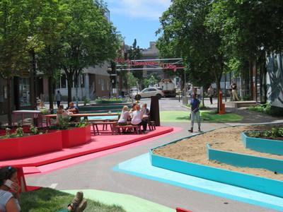 Les terrasses Roy dans Le Plateau-Mont-Royal seront inaugurées demain. (Groupe CNW/Ville de Montréal - Arrondissement du Plateau-Mont-Royal)