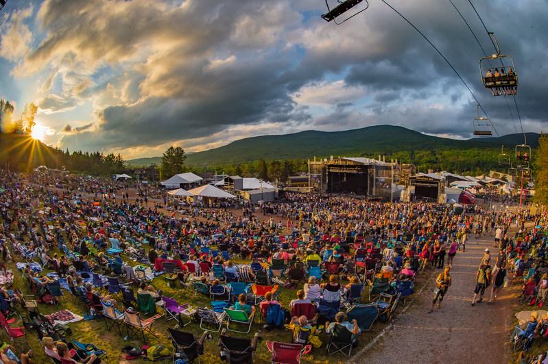 Sun Setting on the 13th Annual Mountain Jam Crowd at Hunter Mountain. Photo credit Joshua Timmermans/Mountain Jam