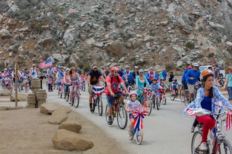 Be sure to bring your bikes for the annual 4th of July bike parade during Family FUNDAY. Photo credit: Mike Baird