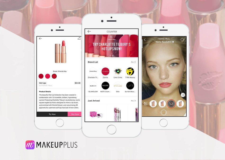MakeupPlus COUNTER's lip try-on for Charlotte Tilbury