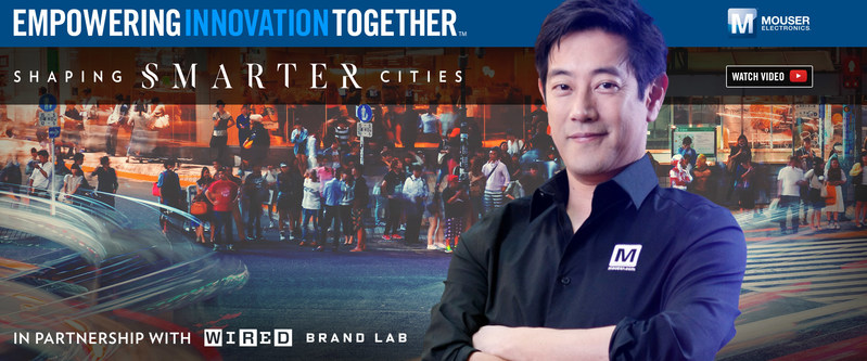 Global distributor Mouser Electronics and engineer spokesperson Grant Imahara are teaming up to present the Shaping Smarter Cities project, part of Mouser's Empowering Innovation Together program. The new series explores global technological solutions for dense population zones, and how different companies are creating a more livable future for our cities. Visit mouser.com/empowering-innovation.