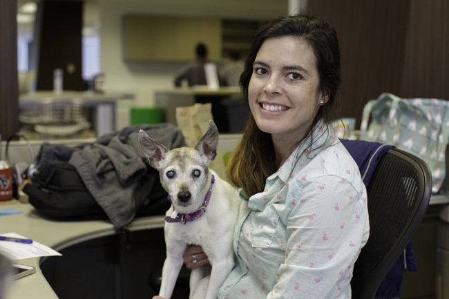 Mars Petcare Associate Tiffany Bednorz and her furry friend Allie.