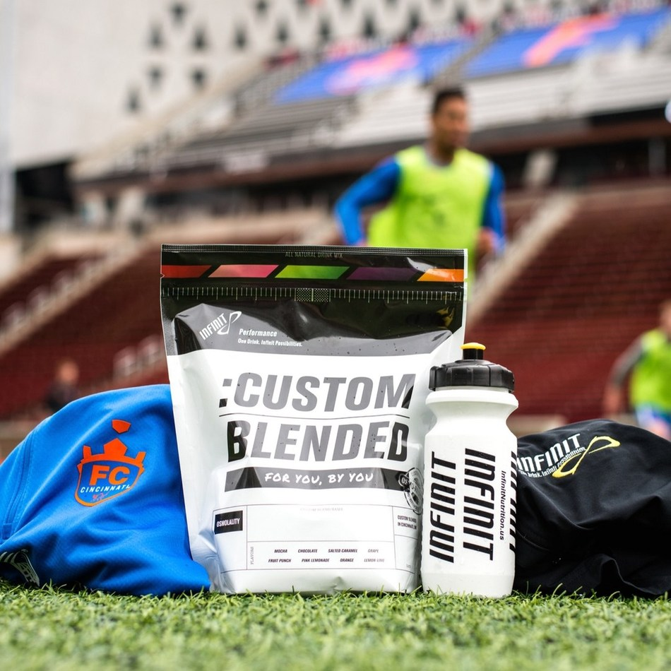 Professional soccer team, FC Cincinnati, and the original custom sports fuel company, INFINIT Nutrition announce a new partnership for the club's 2017 season. The Cincinnati-based institutions have teamed up to develop an all-natural sports fuel customized to provide everything a soccer player needs for maximum performance.