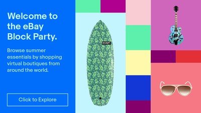 From surfboards from Sydney, sunglasses from Paris, guitars from Brooklyn, and more, the eBay Block Party is accessible on desktop, tablet or mobile device via a 360-degree experience, as well as eBay ShopBot.