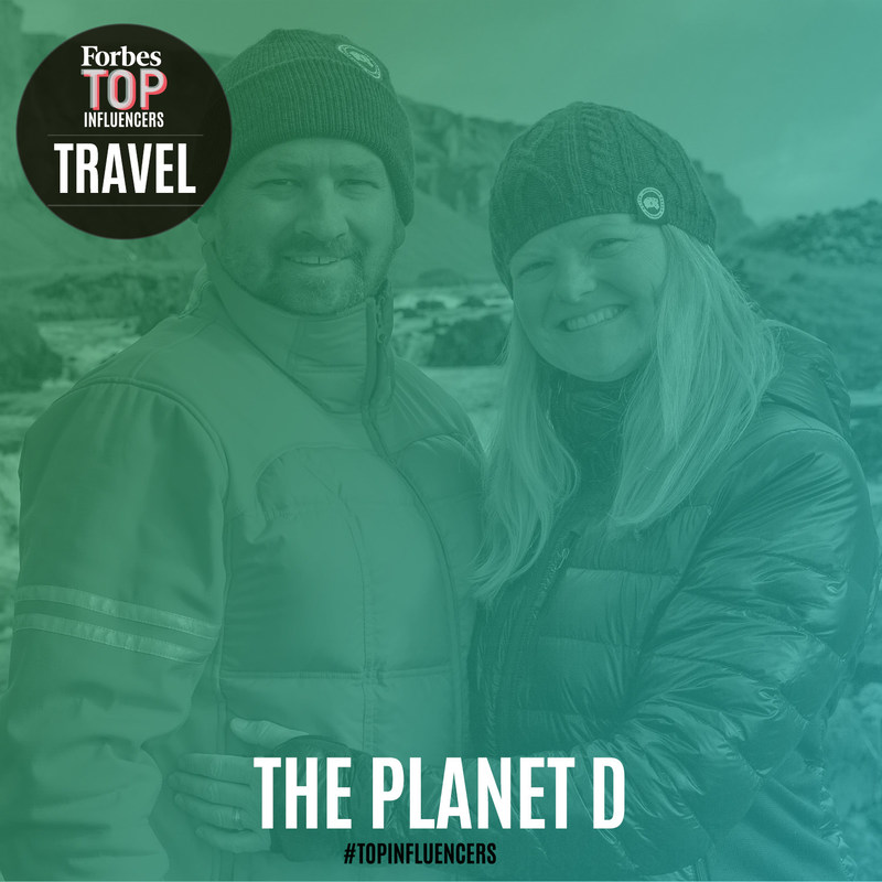 The Planet D are named one of the World's Top Travel Influencers by Forbes