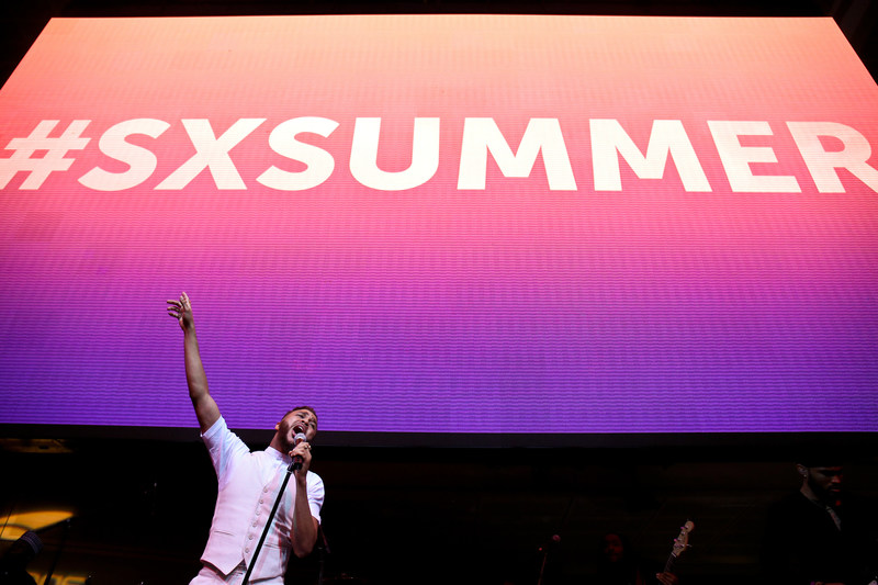 Jidenna performs at the SoundExchange Summer Music Celebration.