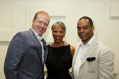 (L-R) SoundExchange President and CEO Michael Huppe, Chief Development Officer for the Ellington Fund Harriette Ecton, President of the Ellington Fund Ari Fitzgerald