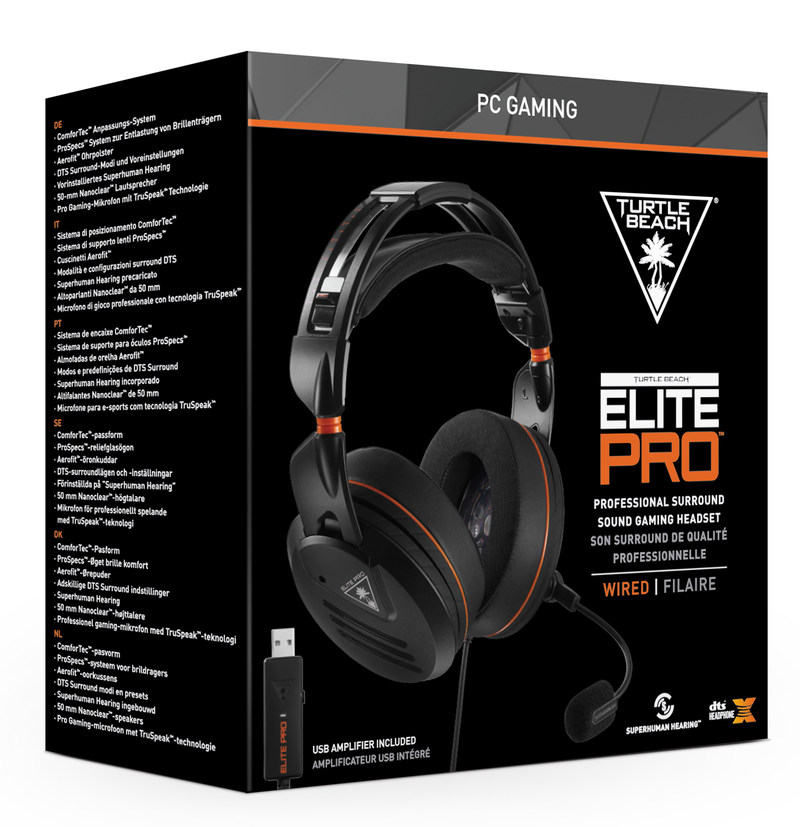 The Elite Pro - PC Edition is a groundbreaking gaming headset designed from the ground-up for today's generation of professional and hardcore gamers playing on PC, and is planned to launch this July for a MSRP of $199.95.