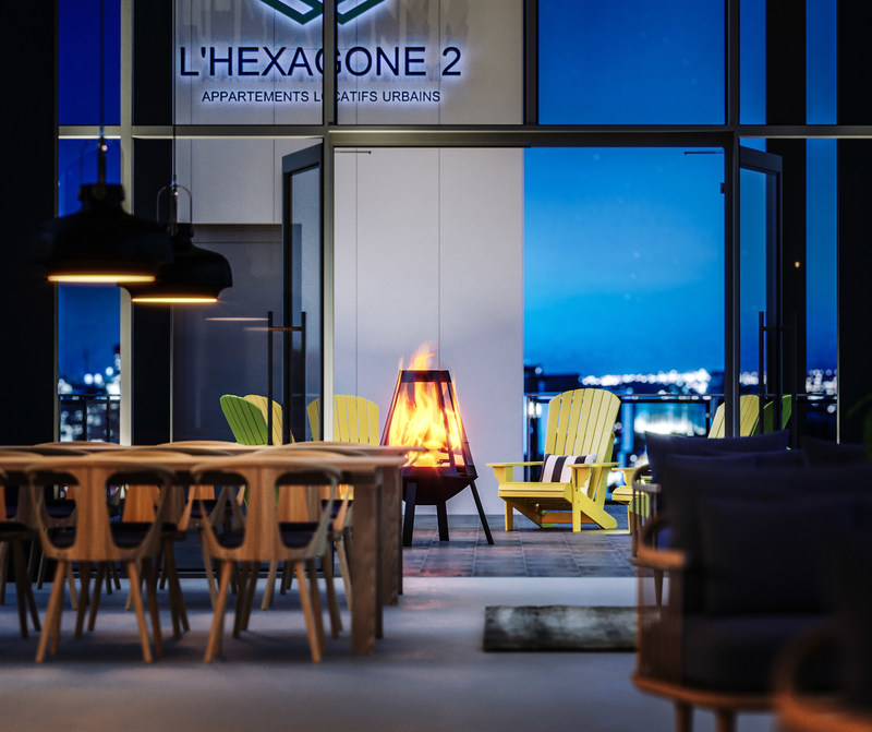 L'Hexagone 2, a new residential rental project in Montreal's Griffintown by Devimco Immobilier and the Fonds immobilier de solidarité FTQ (Les Architectes FABG) (CNW Group/Fonds de solidarité FTQ)