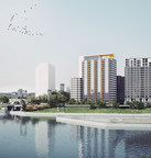 L'Hexagone 2, un nouveau projet résidentiel locatif dans le quartier Griffintown de Montréal, un partenariat entre Devimco Immobilier et le Fonds immobilier de solidarité FTQ (Les Architectes FABG) (Groupe CNW/Fonds de solidarité FTQ)