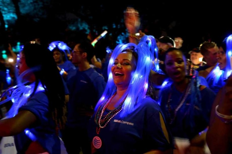BBVA Compass is sponsoring the Houston Pride Parade for the fifth year in a row, putting its signature blue colors atop the main festival entrance this weekend in a show of support for one of the nation's largest Pride Celebrations.