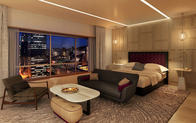 The Royal Suite Master bedroom with panoramic city views. (CNW Group/Fairmont The Queen Elizabeth)