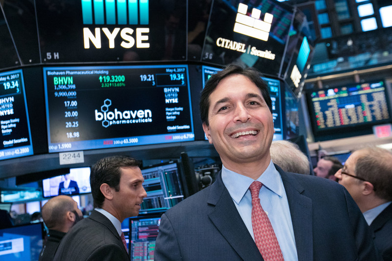 Vlad Coric M.D., Chief Executive Officer, Biohaven Pharmaceutical Holding Company (NYSE:BHVN). Photo Credit: NYSE