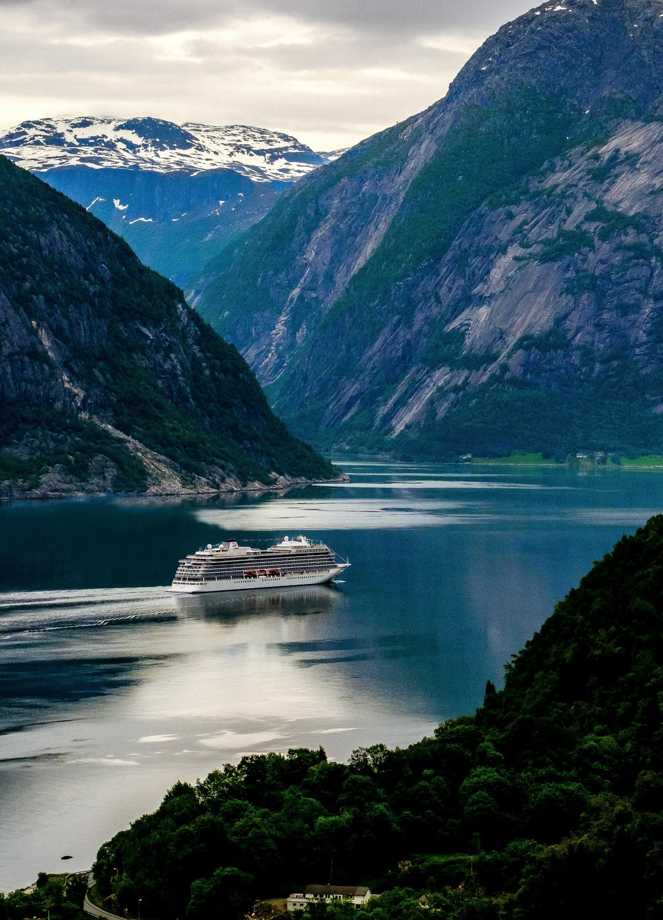 Viking Sky in Eidfjord, Norway on her way to be christened in Tromsø on June 22. Visit www.vikingruises.com for more information.
