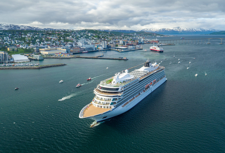 Immediately following the christening, Viking Sky set sail from Tromsø with a convoy of small boats and fishing vessels to mark the summer equinox in Nordkapp (North Cape). Visit www.vikingruises.com for more information.