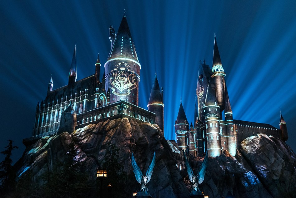 "Universal Studios Hollywood Casts a Dazzling Spell on ""The Wizarding World of Harry Potter"" with Its All-New Summertime Enhancement, ""The Nighttime Lights at Hogwarts Castle,"" Inviting Guests to Experience the Immersive Land in a Whole New Light, Now Open."
