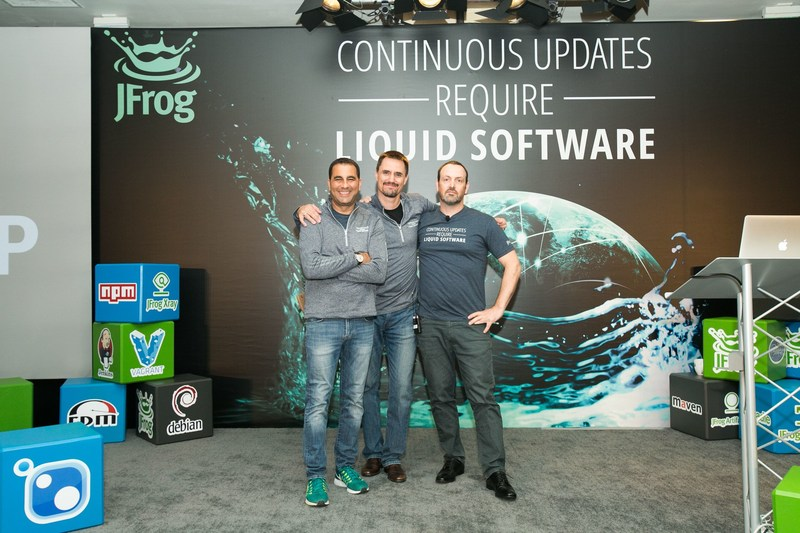 JFrog Founders Shlomi Ben Haim, Fred Simon, and Yoav Landman