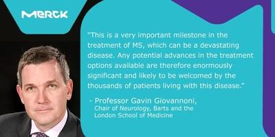 Professor Gavin Giovannoni, Chair of Neurology, Barts and the London School of Medicine. (PRNewsfoto/Merck)