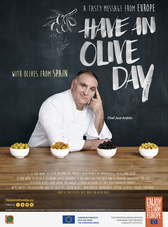 A Tasty Message from Europe: 'Have an Olive Day!' with Olives from Spain at the 2017 Summer Fancy Food Show