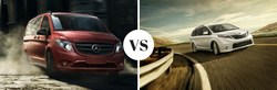 Mercedes-Benz of Arrowhead Sprinter helps online shoppers learn more about the Metris Passenger Van by comparing it to competitor models like the Toyota Sienna.