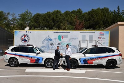 Agreement among Quironsalud and MotoGP World Cup for the first mobile hospital at European Circuit (PRNewsfoto/Quirónsalud)