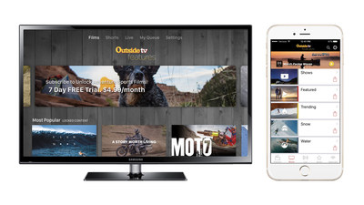 Outside TV Features is available on Apple TV, Roku, Amazon Fire TV, Chromecast, Android, and iOS.