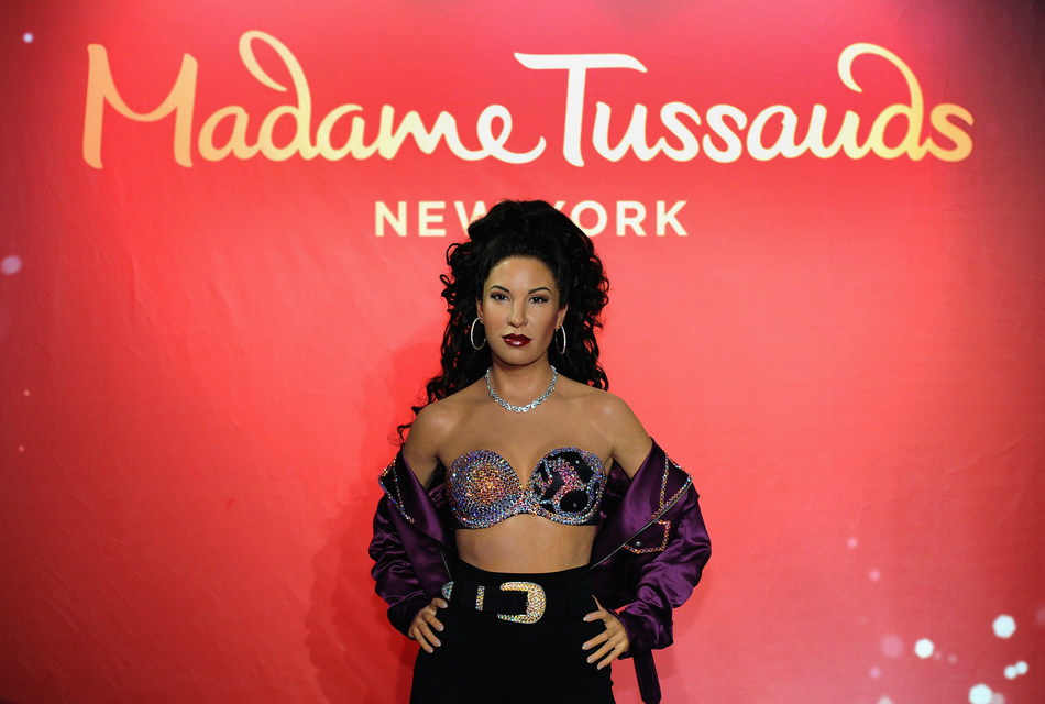 NEW YORK, UNITED STATES - JUNE 23: Suzette Quintanilla (L) attends the Madame Tussauds New York unveiling of late singer Selena Quintanilla's figure in Times Square at Madame Tussauds on June 23, 2017 in New York City. (Photo by Craig Barritt/Getty Images for Madame Tussauds New York)