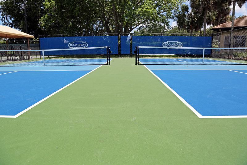 New Pickleball Courts at Boca Grove.
