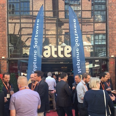 Partners and clients talking outside the 2017 Neptune UX Summit