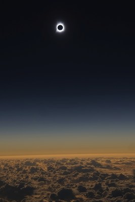 2016 total solar eclipse as seen from Alaska Airlines flight 870.