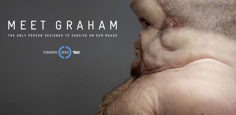 """Meet Graham"" from the Transport Accident Commission Victoria. Created by Clemenger BBDO Melbourne"