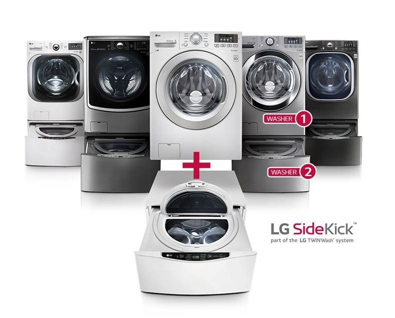 LG Electronics offers best savings ever on its biggest innovation in home laundry – LG TWINWash™ – a front-load washer and LG SideKick™ mini top-load washer in the pedestal for Fourth of July.