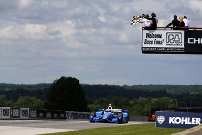 Scott Dixon scored Honda's sixth Verizon IndyCar Series victory of 2017 Sunday at Road America.