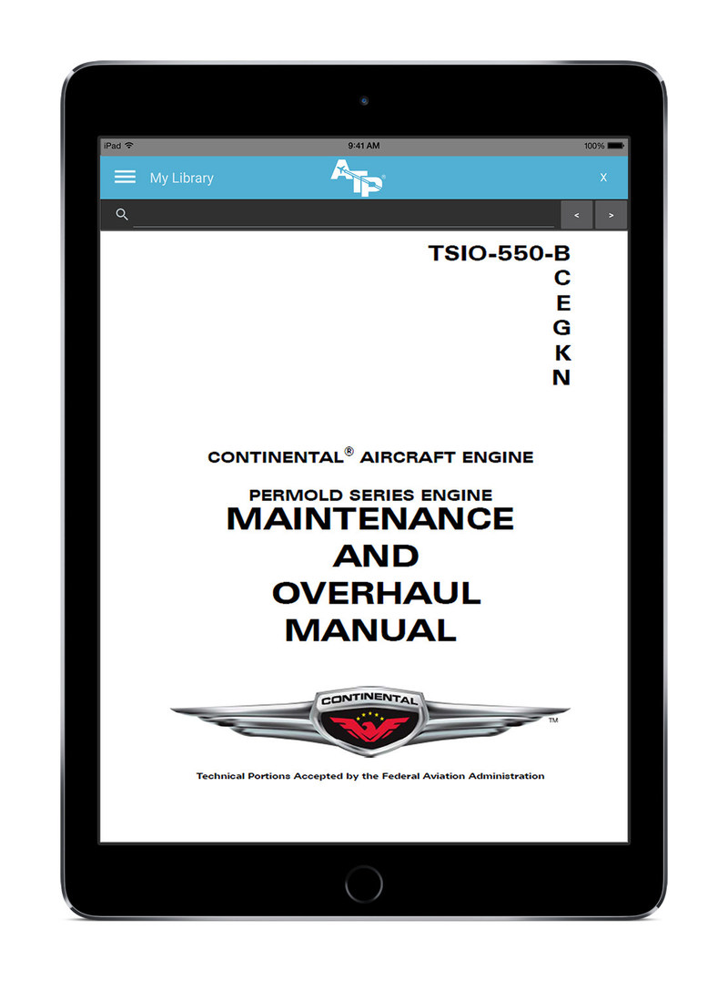 Continental Motors Technical Publications Now Available in the ATP Aviation Hub™ Cloud Application Enabling Maintenance Providers to Streamline Technical Information Management.