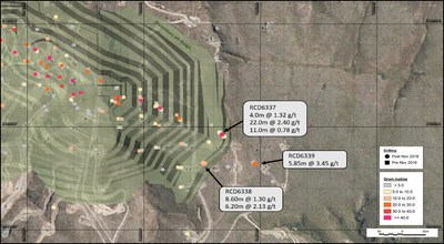 Figure 5 – Coronation North Extension Drilling in Plan (CNW Group/OceanaGold Corporation)