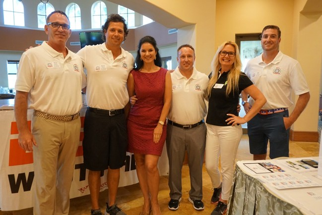 Back-9 Boardroom Team at Parkland Country Club: Brian Adams, Miguel Rivera, Elisa Gaudet, Steve Lyga, Cindy Metzler, Mike O'Neill