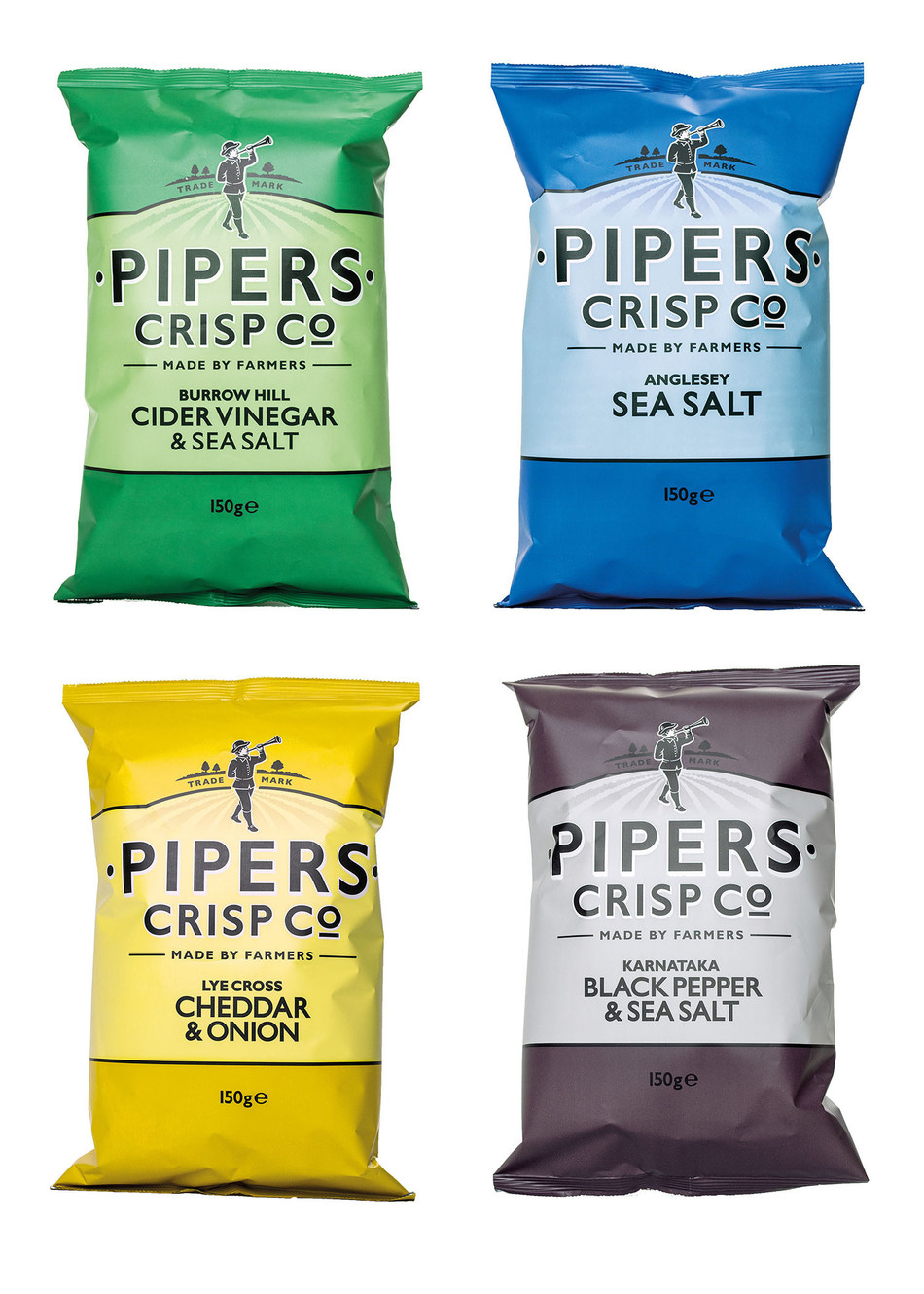 Award-winning British potato chip brand Pipers Crisp Co. has joined the Liberty Richter division of premiere specialty food marketer and distributor World Finer Foods. Credit: Pipers Crisp Co.
