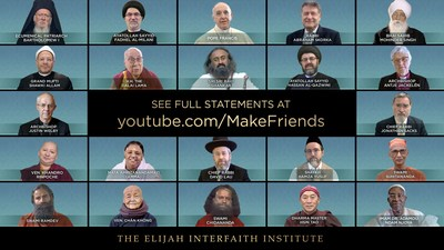 New Video From The Elijah Interfaith Institute Features Religious Leaders Issuing a Coordinated End of Ramadan/Eid el Fitr Message: Make Friends Across Religions