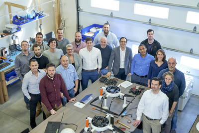 The Microdrones team in Vaudreuil-Dorion, Canada. Microdrones also has offices in Siegen, Germany and Rome, New York – as well as representatives around the world.