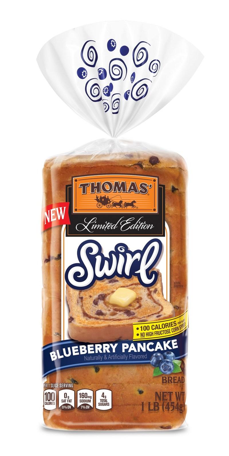 NEW Thomas' Limited Edition Blueberry Pancake Swirl Bread