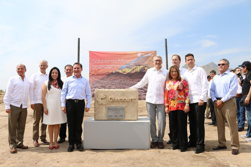"Chemours held a ""placing of the first stone"" event on Saturday, June 26, to mark the start of construction of a new Mining Solutions manufacturing facility in the state of Durango, Mexico"