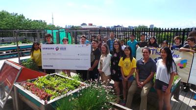 Les gagnants de Samsung Solve for Tomorrow (Brock Public School, Ontario) (Groupe CNW/Samsung Electronics Canada)